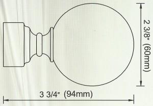 Ball Finial Diagram