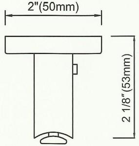 Channel Track Ceiling Bracket2 Diagram