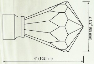 Crystal Diamond Finial Diagram