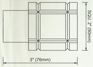 Crystal Square Finial Diagram