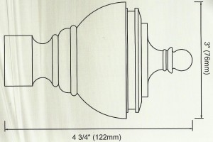 Ice Urn Finial Diagram
