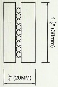 Iced End Cap Finial Diagram