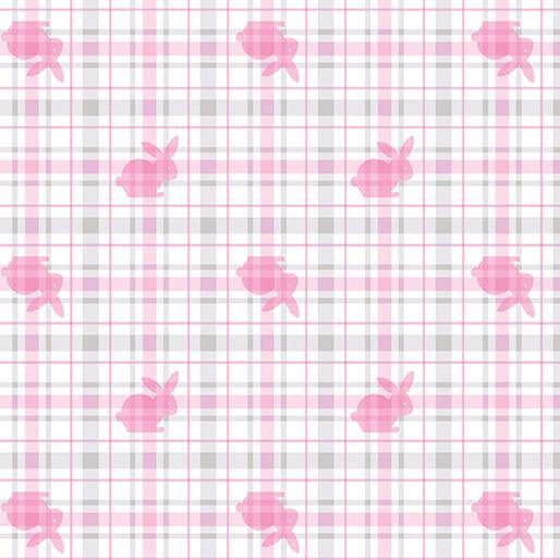 Bunny Plaid Flannel 8402F - 1 Pink